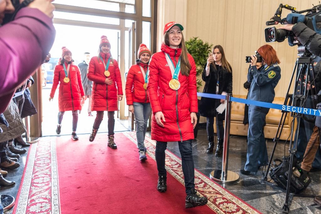 Белорусская спортивная делегация прилетела в Минск