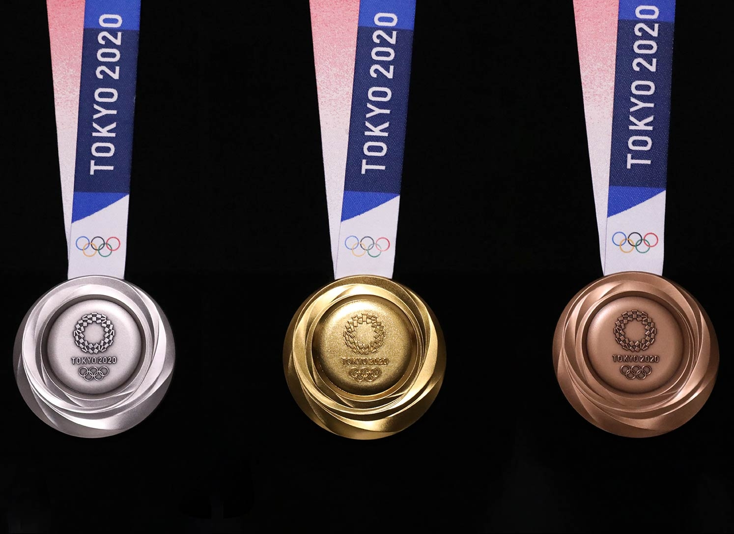 The Tokyo 2020 Olympic medal design has been unveiled
