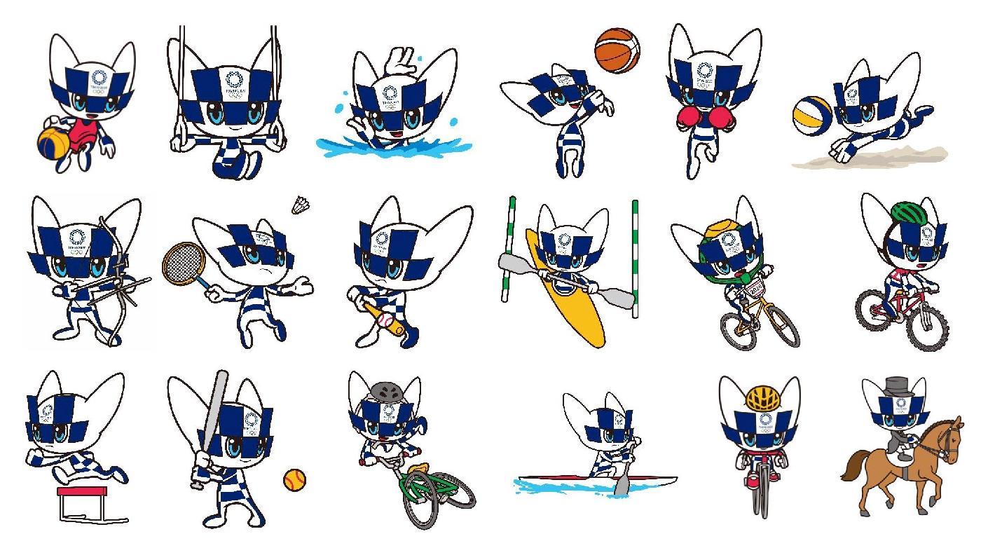 Токио-2020. Представлены изображения талисмана по видам спорта