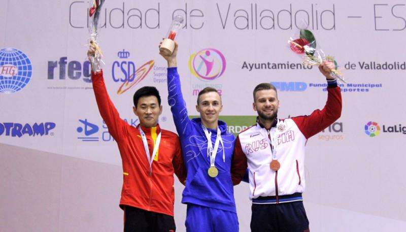 Uladzislau Hancharou won the gold medal at the World Cup in Spain