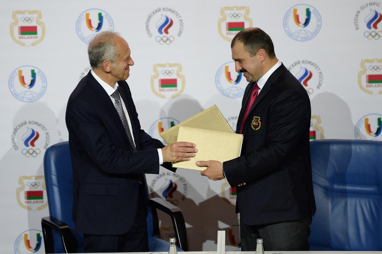 НОК Беларуси и Российский международный олимпийский университет подписали Меморандум о сотрудничестве