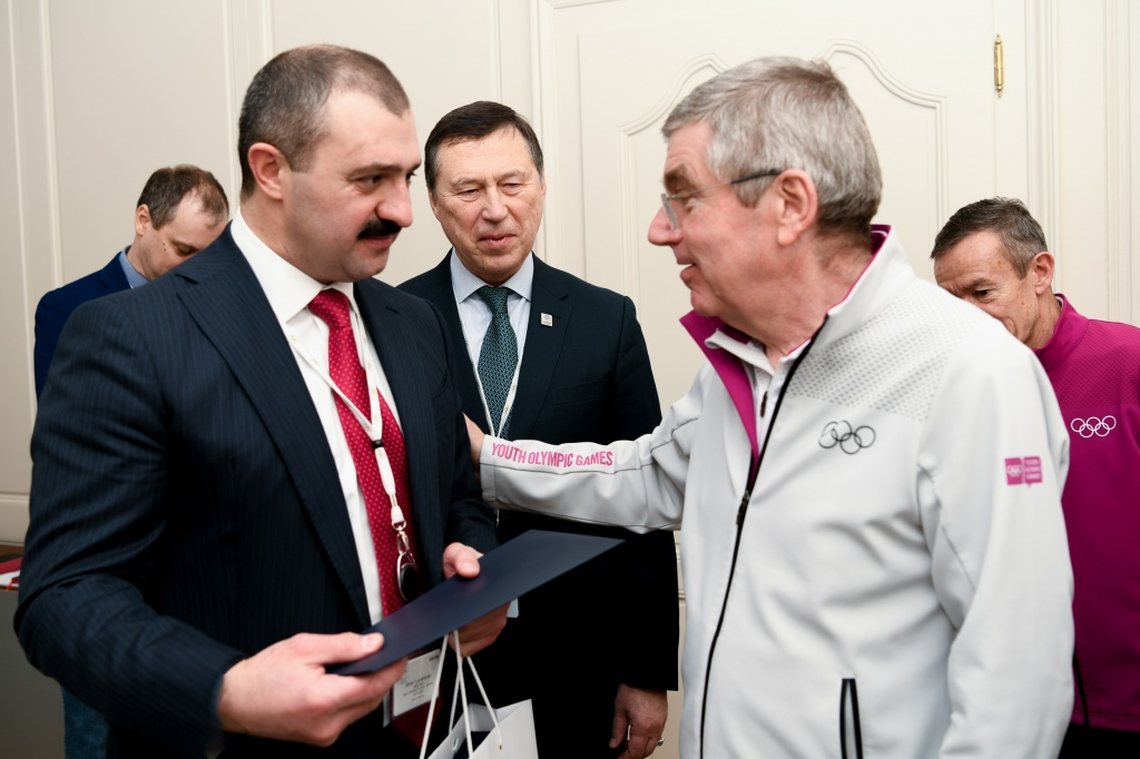 Viktor Lukashenko and Thomas Bach held talks in Lausanne