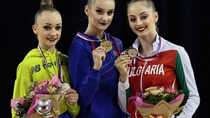 Alina Harnasko wins gold, bronze at Grand Prix Brno 2020