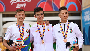 Baku-2019. Athlete Dmitry Savin became the silver medalist of the summer EYOF
